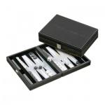 Backgammon - Kassette - Gavriil - Kunstleder - klein - magnetisch
