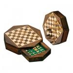 Schachspiel - Reiseschach - Octagon - klein - Breite ca. 14 cm