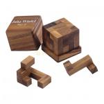 Juha-Würfel 2 - 5 Puzzleteile - Denkspiel - Knobelspiel - Geduldspiel
