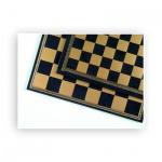 Schachbrett - Salpaleder - gold und blau - Breite 39, 5 cm - Feldgröße 45 mm