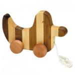 Streifentier - Holzfigur - Ente - 20 cm