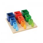 Sortierspiel -Farbige Becher-