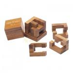 Juha-Würfel 9 - 3 Puzzleteile - Denkspiel - Knobelspiel - Geduldspiel