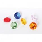 Glas-Diamanten-Set bunt -6 St.-