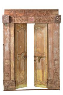 Antike Indische Tür/Tor zauberhaft bemalt