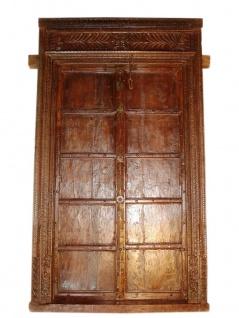 Honig Dunkel farbene Tür antik ca. 120J aus Indien/Rajasthan