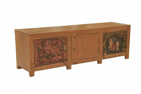 INDIA traditional art for modern communication TV lowboard w carving D ED-11-50 - Vorschau