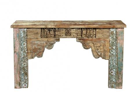 Old India massives Sideboard Wandtisch herrliche Frontoptik beschnitzt und bemalt