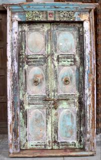 Holzgeschnitzte Tür mit Rahmen aus Goa