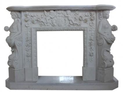 Marmorkamin, Kaminfassade nach Maß massiv Marmor K008