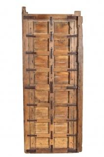 Indien hohes Holzpanel Wanddekor naturfarben Rajasthan ca 1945