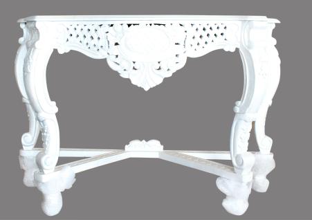 Tisch Massivholz Barock Stil Gold Möbel