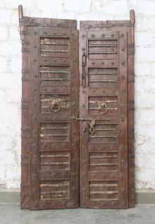 Indien massive Tür antik Teak VI-ED-028