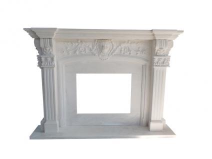 Marmorkamin aus weißem Marmor - Vorschau