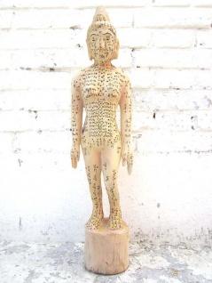 CHINA 1920 Medizin Akupunktur Ausbildung kleine Skulptur des weiblichen Körpers Holz von Luxury-Park