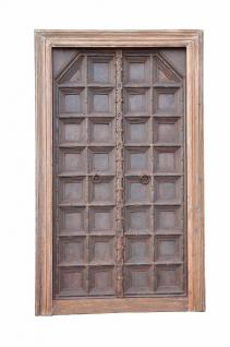 India about 1910 magnificent door panel massive wood classical style D ED-11-36 - Vorschau