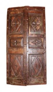 Altes indisches Türpanel aus alter Tür ohne Rahmen