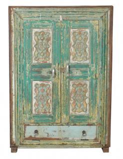 Antike indische grüne Anrichte Kommode - Vorschau