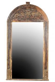 Antiker übergroßer Spiegel feiner massiver Schnitzrahmen