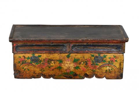 Antike indische Truhe Box Kassette handbemalt - Vorschau