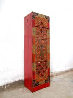 XS Schuhschrank mit Tibetansicher Bemalung 2x Fächer + seitliche Schübe nur by Luxury-Park