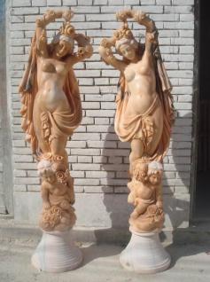 Weibliche Skulptur Pieta mit Schleier Antike schneeweißer Marmor