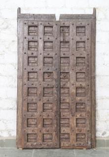 Indien massive Tür antik Teak VI-ED-015
