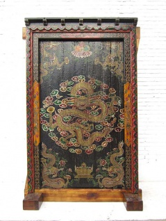 Tibet 1895 Riesen Standbild Antiquität einzigartiger Dekorrahmen