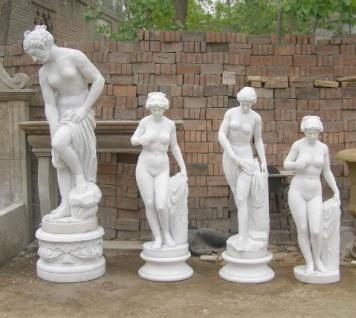 Verschiedene antike Nymphe Badende klassische Skulptur weißer Marmor
