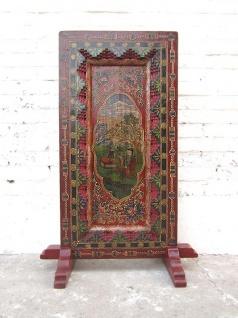 China Tibet Standbild buddhistische Gottheit Antikfinish Rahmen Holz - Vorschau