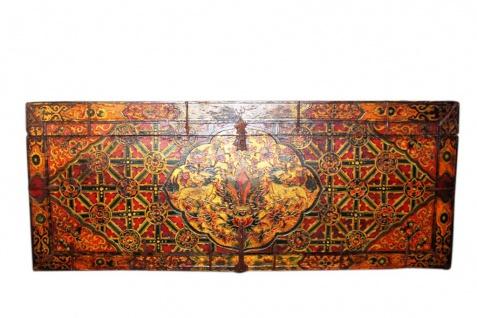 Riesige antike Tibet Truhe Originalbemalung