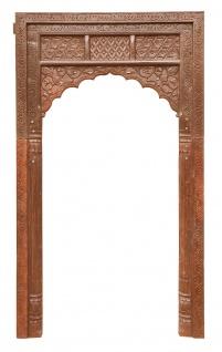 Indien Tür Tor Rahmen Bogen holzbraun für Einbau Dekor Schnitzerei von Luxury-Park