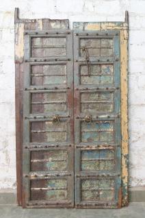 Indien massive Tür antik Teak VI-ED-021