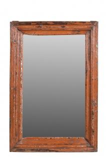 India fein proportionierter Spiegel rotbrauner Holzrahmen Rajasthan 1940