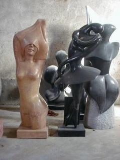 Figuren Marmor verschiedene Farben, Formen und Größen Bildhauerei