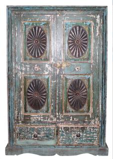 Indien Schrank Cabinet Highboard Poly color