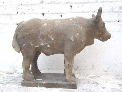Skulptur Büffel Astrologie Figur buddhistisch Pappelholz natur 100 Jahre alt von Luxury Park
