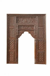 India Mughal Empire großer Fensterrahmen Bogen hoch geschnitztes Holz D ED-11-22 - Vorschau