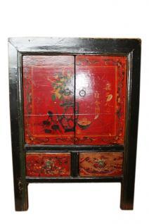 China 1890 Kommode Nachtschrank Schubladen & Türen Kolonialstil - Vorschau