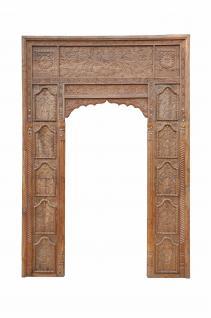 Indien hohe Tür breiter Rahmen Dekorbogen für Einbau Schnitzerei - Vorschau