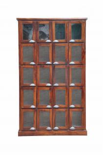 Indischer Schrank große Glasvitrine Kabinett tolle Front - Vorschau
