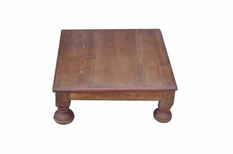 Indien klassische niedrige Sitzbank Hocker stool in Naturton - Vorschau