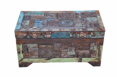 Indien kleine recycling Truhe Kassette Box traditionelle Bemalung Gujarat - Vorschau