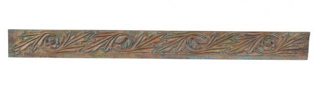 Indien antike breite Zierleiste massives geschnitztes Holz Jodhpur - Vorschau