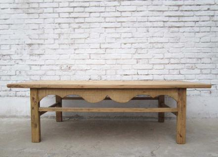 China Shandong um 1890 großer klassisch niedriger Tisch Ulmenholz natur - Vorschau