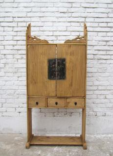 China Shanxi um 1890 klassischer Hausaltar Schrein helles Pappelholz Regal - Vorschau