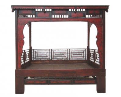 Shandong 1860 traumhaftes Bett Alkoven herrliche Schnitzarbeit Rarität - Vorschau