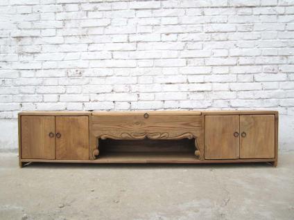 China Jilin um 1900 Lowboard flache Anrichte ideal für Flachbildschirm Pinienholz - Vorschau