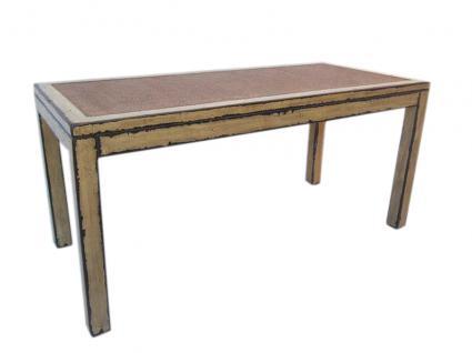 China großer Tisch Esstisch aus massivem hellem Ulmenholz Shabby chic - Vorschau