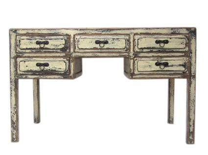 China Hebei schlanker Schreibtisch Desk dunkelbraune Pinie - Vorschau